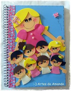 Kids Crafts, Foam Crafts, Diy And Crafts, Arts And Crafts, Paper Crafts, Diy Notebook, Decorate Notebook, Classroom Board, Classroom Decor