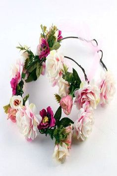CCH142 Floral Garland Headband Set of 2 (Mommy and Baby) (Several Colors) Photo Prop, Wedding