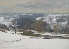 """Winter in the Bure Valley"" by Edward Brian Seago, no date given"