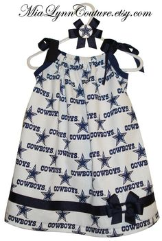 Dallas Cowboys Pillowcase Dress with FREE by MiaLynnCouture 1678d2cf1