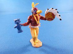 Zeremonialmaske, Zeremonialstab und Indianerschild aus Resin, Schildschlaufe flexibel