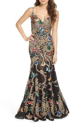 Mac Duggal Butterfly Lace Applique Gown. Buy for  798 at Nordstrom. White  Ball Gowns bc155f39f416