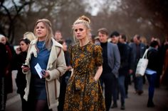 Laura Bailey in a Burberry dress