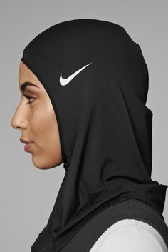 """The final, pull-on design is constructed from durable single-layer Nike Pro power mesh,"" the company said. Nike called the mesh its ""most breathable fabric."" The hijab will come in dark, neutral colors. Muslim Girls, Muslim Women, Arab Girls, Hijabs, Nike Pros, Muslim Fashion, Hijab Fashion, Modest Fashion, Fashion Women"