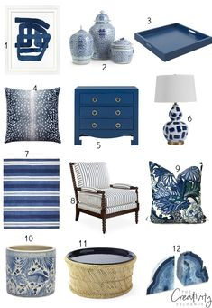 PPG 2020 Color of the Year: Chinese Porcelain We're sharing all the beautiful ways to incorporate PPG 2020 Color of the Year in a home, which is a stunning rich blue called Chinese Porcelain. - PPG 2020 Color of the Year: Chinese Porcelain Paint Colors For Living Room, Living Room Decor, Home Design, Blue And White Living Room, Family Room Design, White Decor, White Lamps, White Rugs, Color Of The Year
