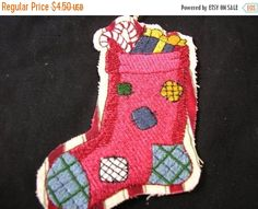50% OFF SALE Christmas Tree Ornament Stocking by MakeMeOver