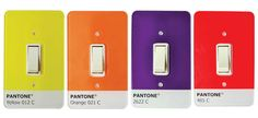 Really light up your yearbook room with these awesome Pantone light switches! Pantone 485, Yellow Pantone, Funny Design, E Design, Graphic Design, Light Switch Plates, Light Switch Covers, Pantone Color Guide, Pantone Universe