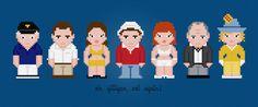 Gilligan's Island TV Characters - Digital PDF Cross Stitch Pattern
