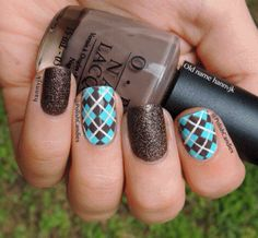50 Fabulous Nail Art 2015 - Nail Art How To, Nail Designs, Fall Nails, Argyle Nails Beautiful Nail Art, Gorgeous Nails, Love Nails, Pretty Nails, Plaid Nail Art, Plaid Nails, Checkered Nails, Argyle Nails, Nail Design Spring