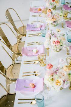 Gallery - If Lisa Frank Had a Pastel Rainbow Wedding This Would Be It Rainbow Wedding Decorations, Pastel Wedding Colors, Party Decoration, Wedding Color Schemes, Wedding Themes, Wedding Events, Pastel Pink, Easter Wedding Ideas, Weddings