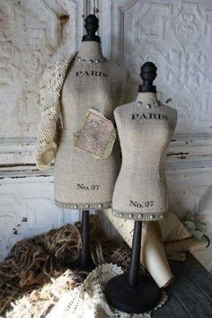 French Form Bodies Mannequin Shabby Chic. Perfect for Jewelry or Hanging Decorative Ware. Lg $90.00 Sm $69.00