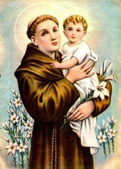 Oracion A San Antonio, International Day, Catholic Saints, Mona Lisa, Blessed, Artwork, Painting, Saints, San Antonio