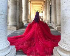 Women's Shoes | Etsy Rapunzel Wedding Dress, Ombre Wedding Dress, Fairy Wedding Dress, Perfect Wedding Dress, Cinderella Wedding, Beauty And The Beast Wedding Dresses, Red Wedding Gowns, Bridal Gowns, Red Ball Gowns