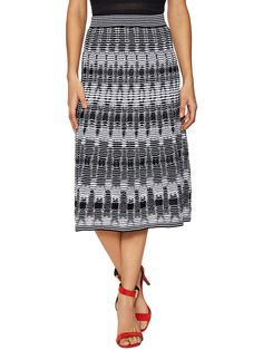 Knit Cotton Midi A-line Skirt from M Missoni on Gilt
