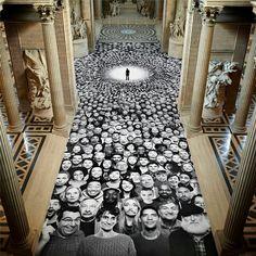 Paris' Pantheon selfie installation by street photographer #JR.