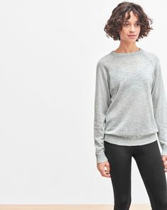 Cotton Silk Raglan Pullover