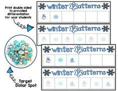 Mini Eraser Winter Patterns [FREEBIE] by Preschoolers and Sunshine | Teachers Pay Teachers