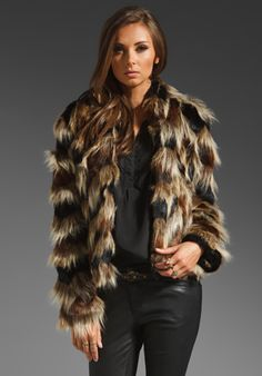 WISH Bracken Fur Coat in Tarnished at Revolve Clothing - Free Shipping!