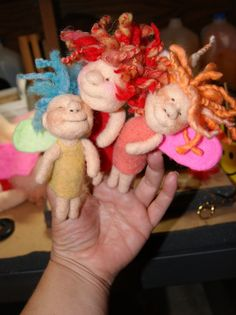 Finger Puppet Fairies Needle Felting Video Tutorial & von FeltAlive
