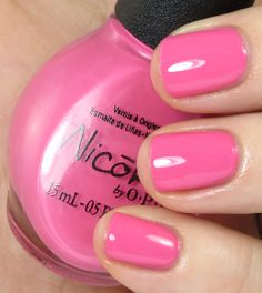 Nicole by OPI Tink Collection Inspired by Tinker Bell Tink's in the Pink swatches