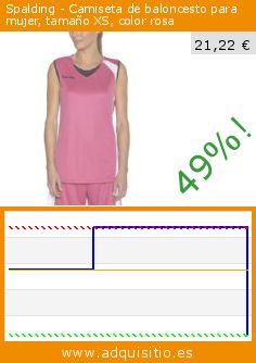 Spalding - Camiseta de baloncesto para mujer, tamaño XS, color rosa (Sports Apparel). Baja 49%! Precio actual 21,22 €, el precio anterior fue de 41,80 €. http://www.adquisitio.es/spalding/camiseta-baloncesto-mujer-18