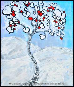 HEART TREE at Saratoga Paint & Sip Studio