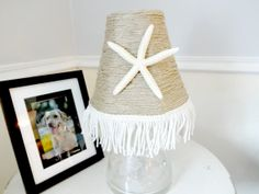 Starfish Lamp Shade Beach House Decor Cottage Chic by YoursTrulli, $38.00