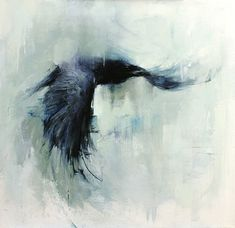 Flying Raven Painting 20x20raven-flying-web-