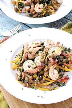 Shrimp and Swiss Chard