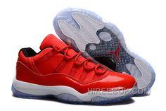 "73118fa0d Air Jordans 11 Retro Low ""Red"" PE Carmelo Anthony Red White Christmas Deals  2JAZNAM"