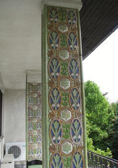 Budapest, Schiffer villa  Hungary Zsolnay manufactura mayolica Photo:baribari