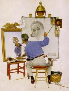 Norman Rockwell is America's most successful painter. His published works are in the thousands (i think) and he has influenced countless artists (myself included), His triple self portrait is my favorite.