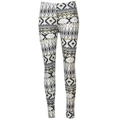 Ribbon Aztec Leggings ($15) ❤ liked on Polyvore featuring pants, leggings, bottoms, jeans, calças, stretch waist pants, aztec patterned leggings, aztec tribal print leggings, aztec-print leggings and elastic waist pants