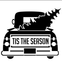 Designer Stencils Tis The Season Vintage Truck with Tree Stencil mil Plastic) Christmas Stencils, Christmas Vinyl, Christmas Truck, Christmas Shirts, Vintage Christmas, Christmas Crafts, Christmas Ideas, Christmas Decorations, Christmas Quotes