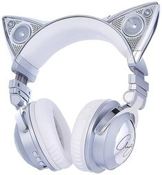 Brookstone Limited Edition Ariana Grande Wireless Cat Ear Headphones with External Speaker Bluetooth Microphone and Color Changing Accents BoughtAgain headphone art Wireless Cat Ear Headphones, Cat Lover Gifts, Cat Gifts, Cat Lovers, Lovers Gift, Gift For Lover, Ariana Grande Headphones, Photos Folles, Dream Ring