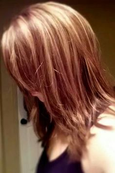 www.DrewHair.com-Phoenix,  AZ. Highlights with three colors- caramel,  red,  & brown.