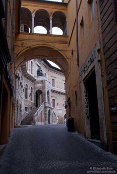 Street scene, Fermo, province of Pesaro and Urbino Marche region  Italy