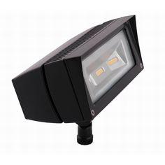 RAB FFLED18 LFLOOD® LED Flood Light; 18 Watt, 1681 Lumens, Bronze