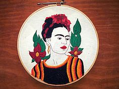 bordado Frida Kahlo
