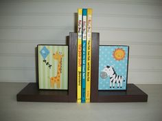 Personalized Bookends for Children by RessieLillian on Etsy