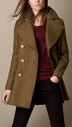 Oversize Felted Wool Coat   Burberry