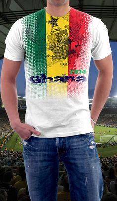 http://www.blackstarsquare.com/ Ghana soccer shirt