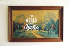 Life as a Thrifter: Thrift Store Art: for the nursery