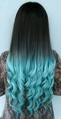 Are you looking for dark blue hair color for ombre and teal? See our collection full of dark blue hair color for ombre and teal and get inspired! Hot Hair Colors, Hair Color Blue, Cool Hair Color, Hair Color For Kids, Hair Color Tips, Amazing Hair Color, Black Hair With Blue Highlights, Light Blue Ombre Hair, Turquoise Hair Ombre