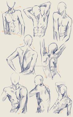 Male Anatomy Practice by Ze-RoFruits.deviantart.com on @deviantART