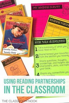 (FREE) Motivate your students to read using reading partnerships - the perfect alternative to buddy reading. This post includes a free starter kit! Perfect for grades 3-5