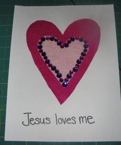 Jesus loves me Valentine Craft activity for my sunday school kids
