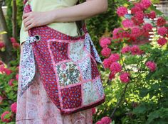 Patchwork Bag Summer Bag Large Shopping Bag by SewingLadyQuiltings