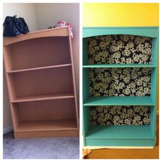DIY furniture, bookshelf, craft, upcycle