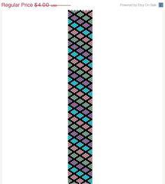BLACK FRIDAY Multicolor Harlequin -Peyote stitch pattern cuff bracelet, PDF file pattern ,Delica seed beads pattern, beadwork